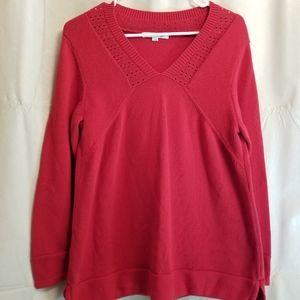 Mercer Street Studio Red V Neck Sweater